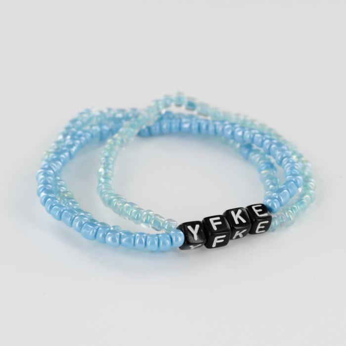 Triple Me naamarmband blauw