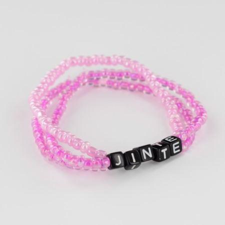 Triple Me naamarmband roze