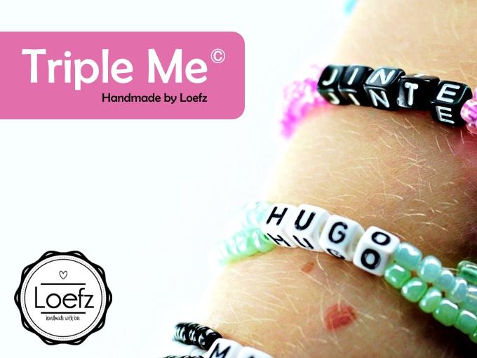 Loefz Triple Me naamarmband